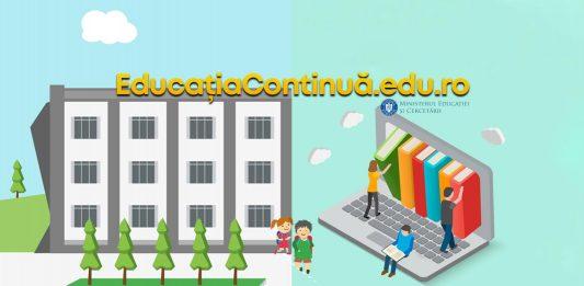 Educatioacontinua.edu.ro, portal de informații la deschiderea anului școlar