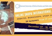 Săptămâna internațională online la SNSPA