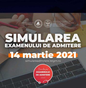 Simularea admiterii la UMFST George Emil Palade din Târgu-Mureș